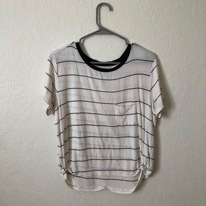 american eagle white striped shirt